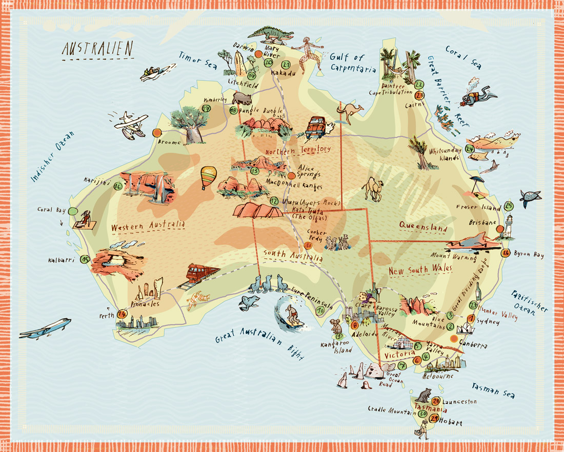 australienkarte